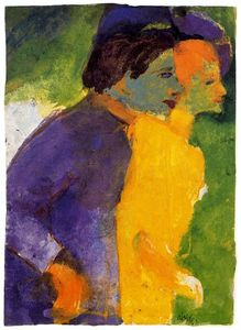 Emile Nolde - Couple, Yellow and Violet