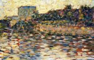 Georges Pierre Seurat - Courbevoie, Landscape With Turret