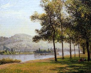 Camille Pissarro - The Cours la Reine at Rouen Morning, Sunlight