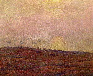 Theo Van Rysselberghe - Cows in a Landscape