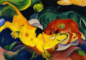 Franz Marc - Cows, Red, Green, Yellow