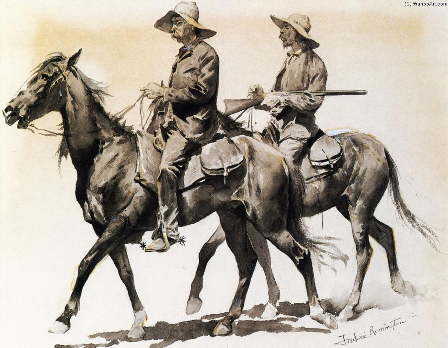Cracker Cowboys of Florida, Watercolour by Frederic Remington (1861-1909, United States)