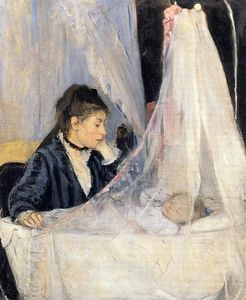 Berthe Morisot - The Cradle - (Famous paintings reproduction)