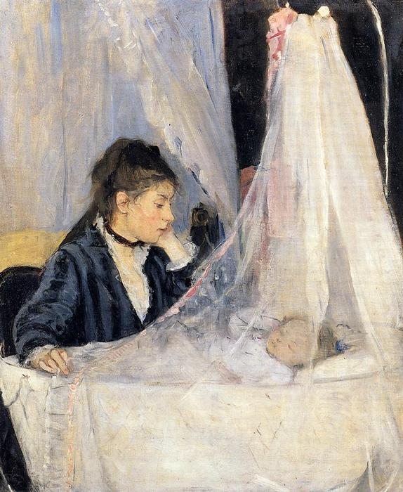 The Cradle, 1872 by Berthe Morisot (1841-1895, France) | Painting Copy | WahooArt.com