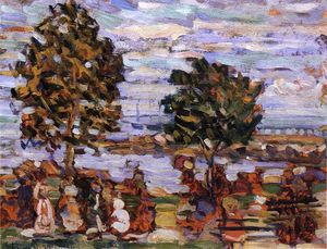 Maurice Brazil Prendergast - Crepuscule (also known as Sunset)