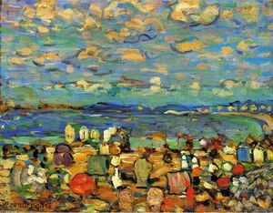 Maurice Brazil Prendergast - Crescent Beach (also known as Crescent Beach, St. Malo)