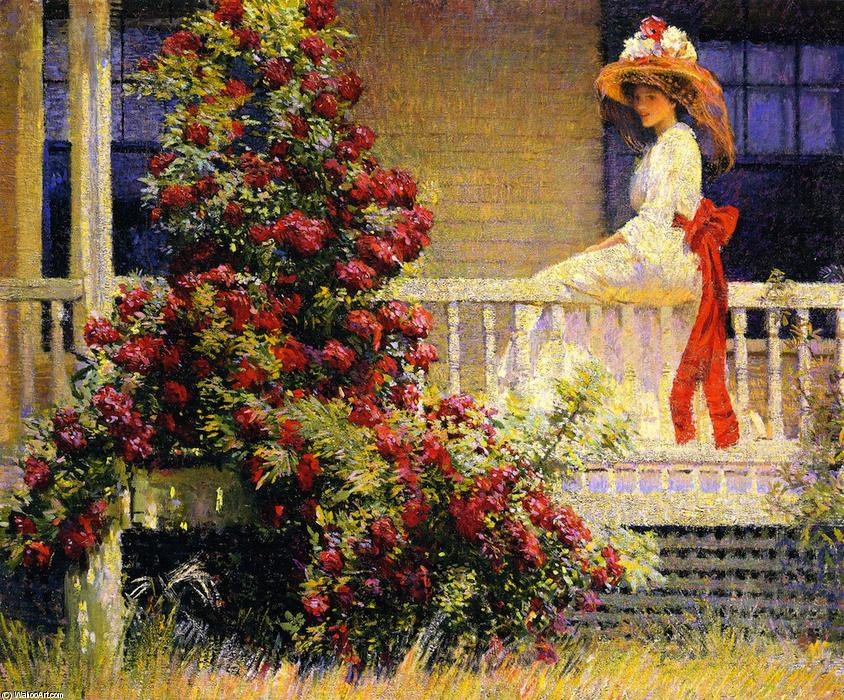 The Crimson Rambler, Oil On Canvas by Phillip Leslie Hale (1865-1931, United States)