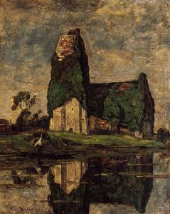 Eugène Louis Boudin - Criqueboeuf, the Church