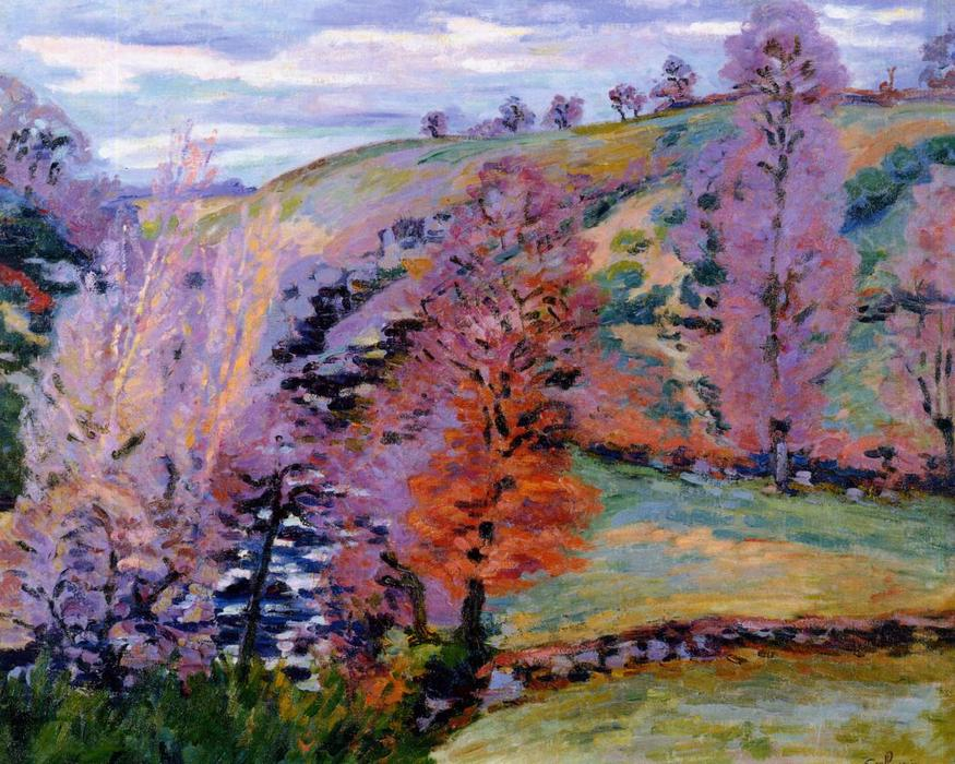 Order Museum Quality Copies | Crozant Landscape (also known as Grey Weather), 1910 by Jean Baptiste Armand Guillaumin (1841-1927, France) | WahooArt.com