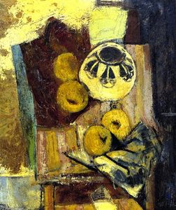 Alfred Henry Maurer - Cubist Still LIfe with Ceramic Bowl and Apples