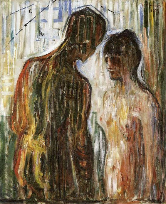 Cupid and Psyche, Oil On Canvas by Edvard Munch (1863-1944, Norway)