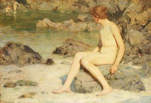 Henry Scott Tuke - Cupid and Sea Nymphs