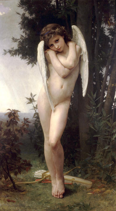 Cupidon (also known as Cupid), 1875 by William Adolphe Bouguereau (1825-1905, France) | Museum Quality Reproductions | WahooArt.com