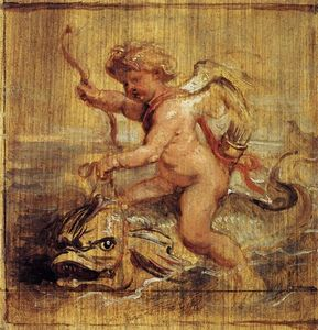 Peter Paul Rubens - Cupid Riding a Dolphin
