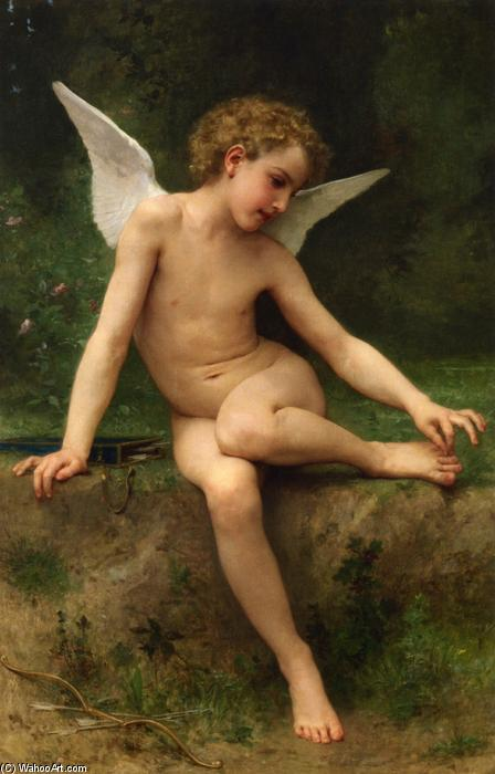 Cupid with Thorn, 1894 by William Adolphe Bouguereau (1825-1905, France) | Museum Quality Reproductions | WahooArt.com
