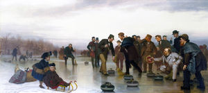 John George Brown - Curling, - A Scottish Game, at Central Park