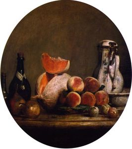 Jean-Baptiste Simeon Chardin - The Cut Melon