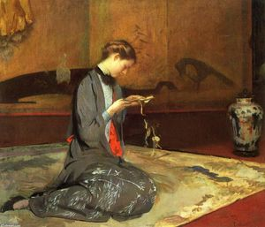 Edmund Charles Tarbell - Cutting Origami