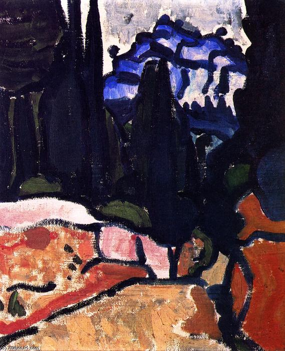 The Cypresses at Cassis, Oil On Canvas by André Derain (1880-1954, France)
