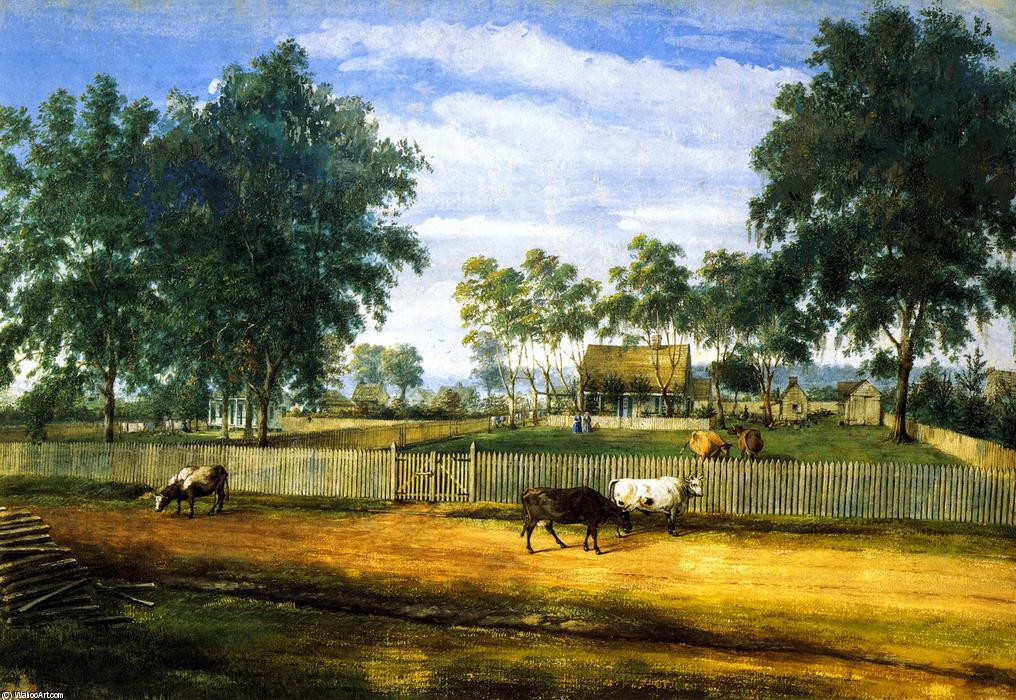 Daigre House, 1852 by Marie Adrien Persac (1823-1873, France) | Painting Copy | WahooArt.com