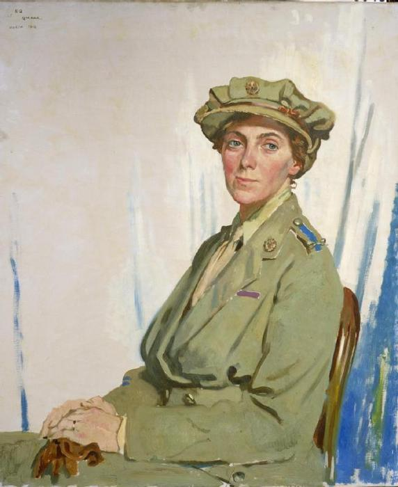 Dame Helen Gwynne-Vaughan by William Newenham Montague Orpen (1878-1931, Ireland)