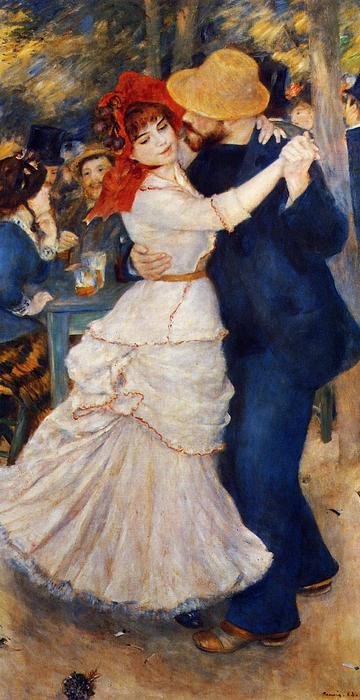 Dance at Bougival, 1883 by Pierre-Auguste Renoir (1841-1919, France) | Art Reproduction | WahooArt.com