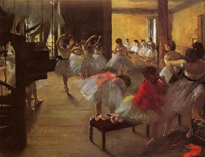 Edgar Degas - The Dance Class - (Famous paintings reproduction)