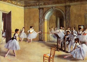 Edgar Degas - Dance Class at the Opera