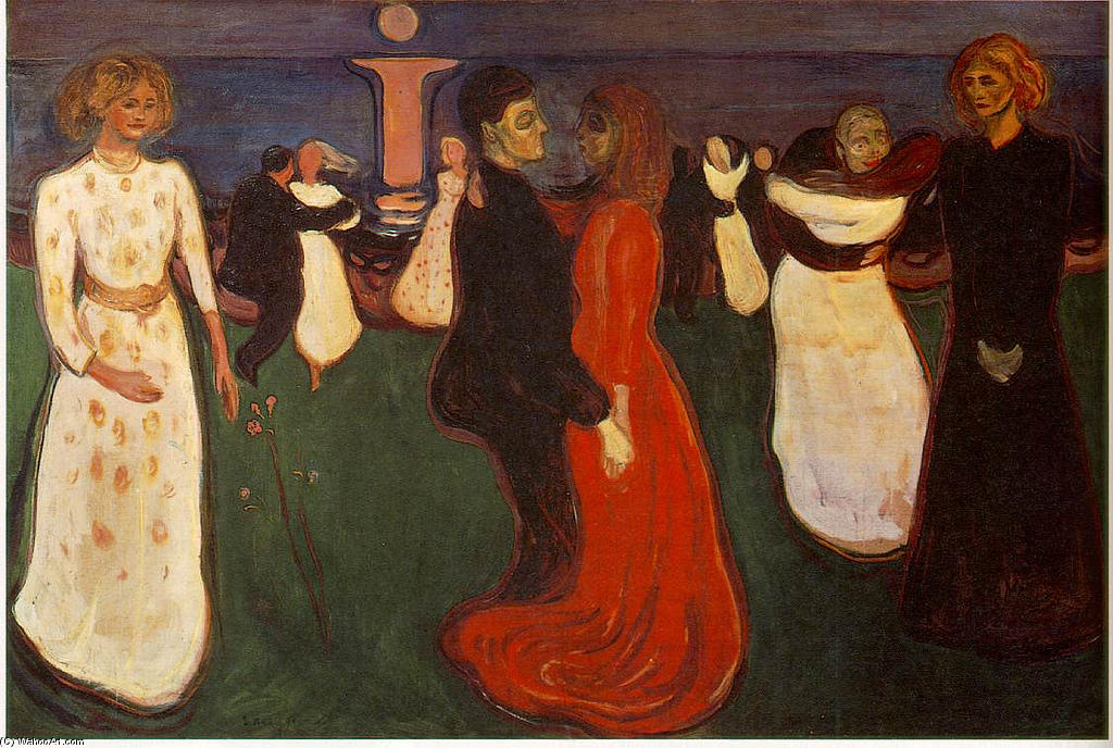 Dance Of Life, Oil On Canvas by Edvard Munch (1863-1944, Norway)