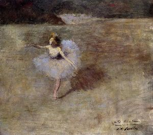 Jean Louis Forain - Dancer in Pink Tights