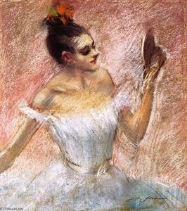 Jean Louis Forain - Dancer with a Mirror