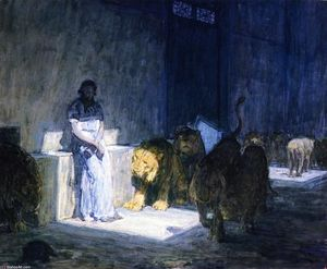 Henry Ossawa Tanner - Daniel in the Lions' Den