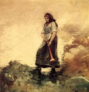 Winslow Homer - Daughter of the Coast Guard