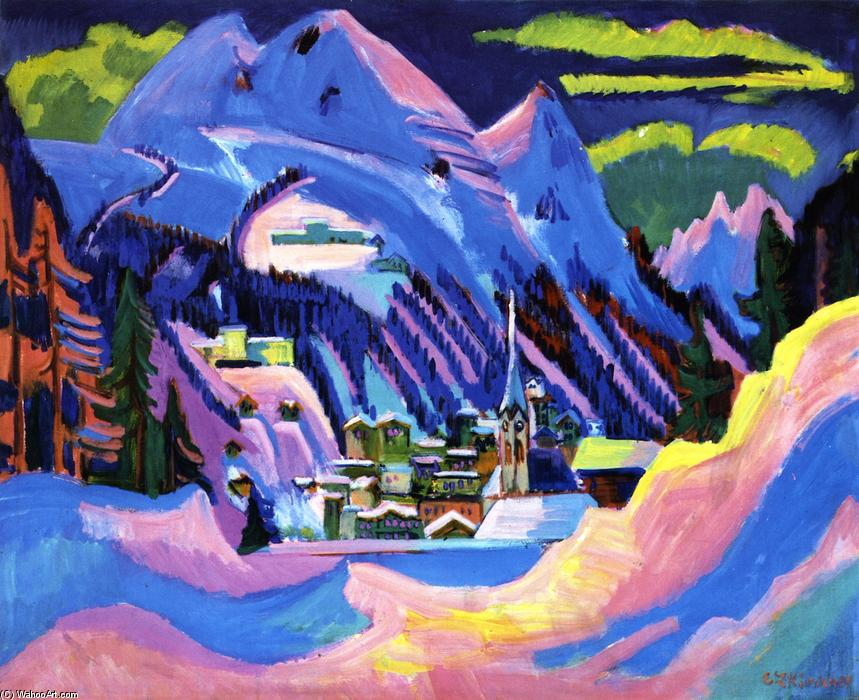 Davis im Schnee, Oil On Canvas by Ernst Ludwig Kirchner (1880-1938, Germany)