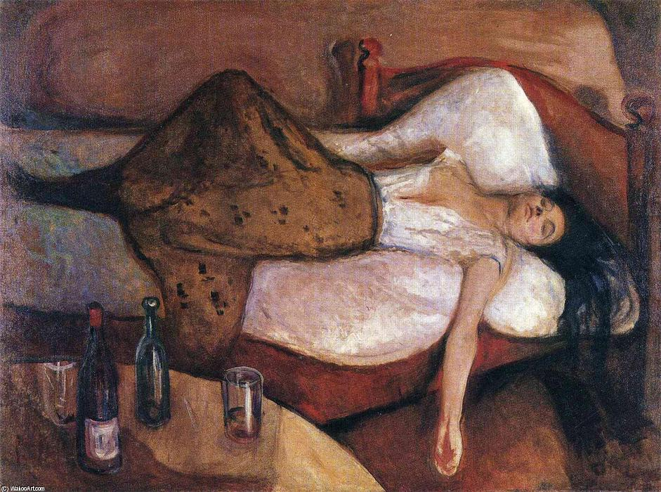 The Day After, 1895 by Edvard Munch (1863-1944, Sweden) | Painting Copy | WahooArt.com