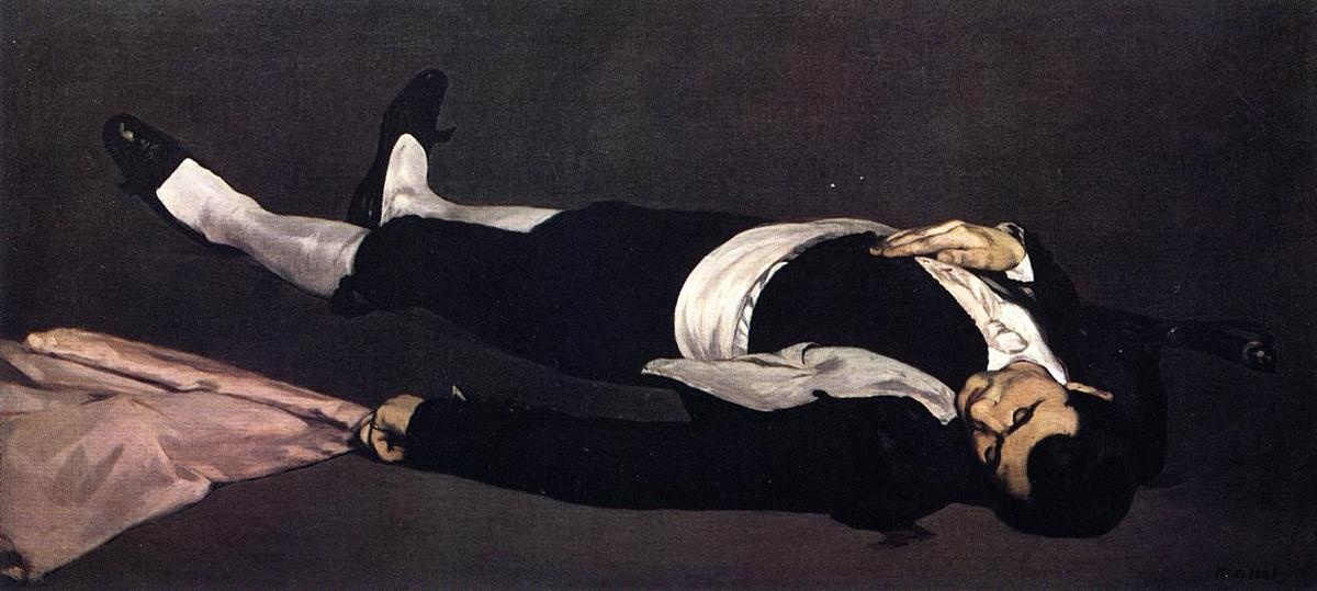 The Dead Toreador (also known as The Dead Man), Oil On Canvas by Edouard Manet (1832-1883, France)