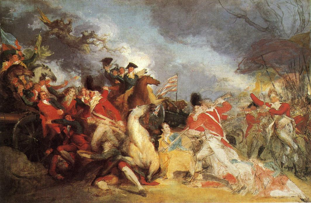The Death of General Mercer at the Battle of Princeton (unfinished version), Painting by John Trumbull (1756-1843, United Kingdom)