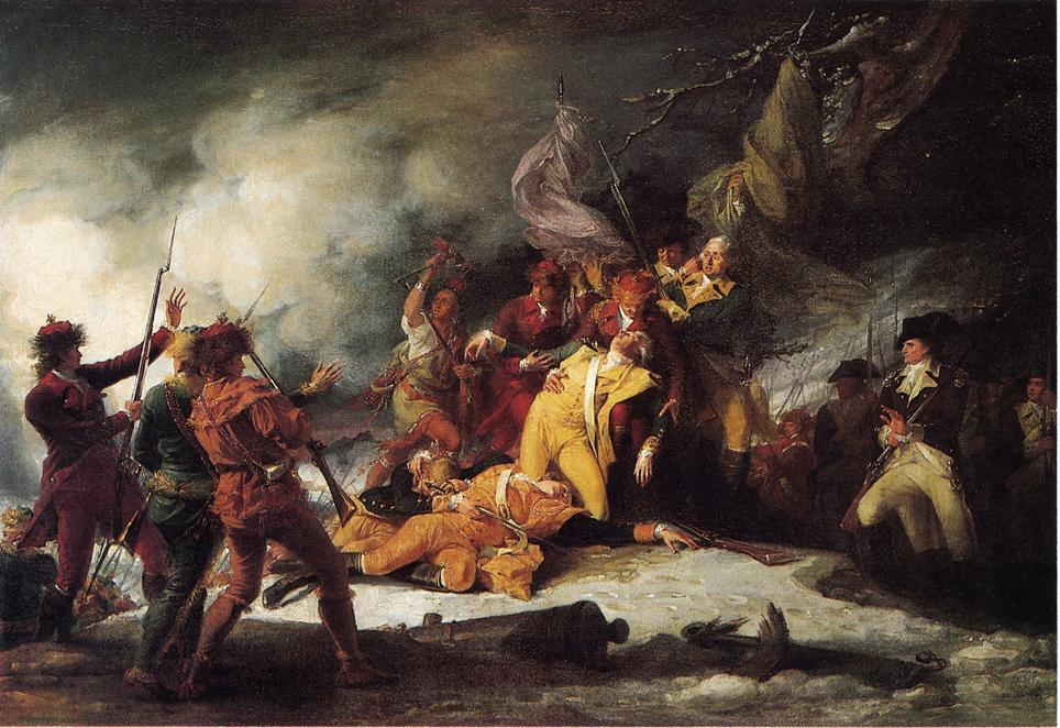 The Death of General Montgomery in the Attack on Quebec, December 31, 1775, Oil On Canvas by John Trumbull (1756-1843, United Kingdom)