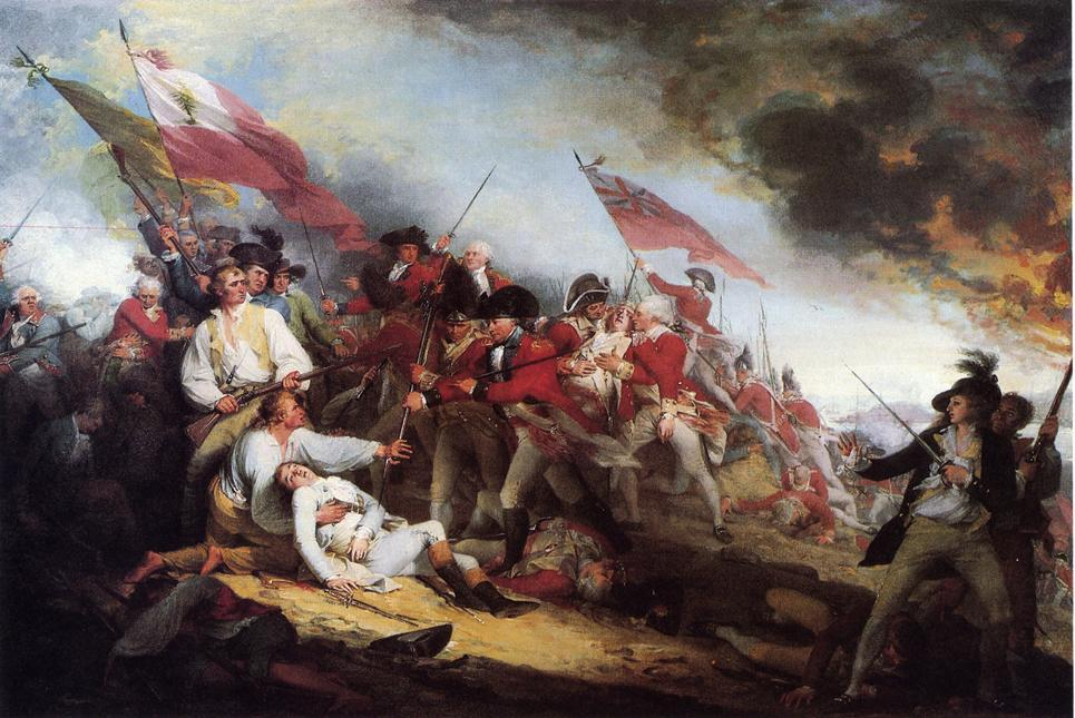 The Death of General Warren at the Battle of Bunker's Hill, Oil On Canvas by John Trumbull (1756-1843, United Kingdom)