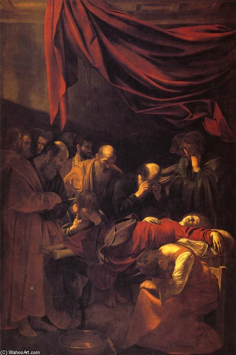 Death of the Virgin, Oil On Canvas by Caravaggio (Michelangelo Merisi) (1571-1610, Spain)