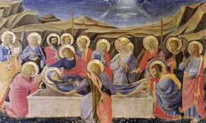 Fra Angelico - Death of the Virgin (The Cortona Altarpiece)