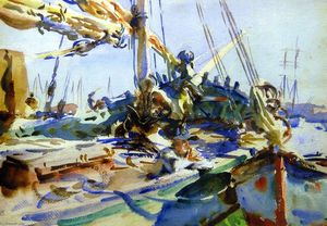 John Singer Sargent - The Deck, Venice