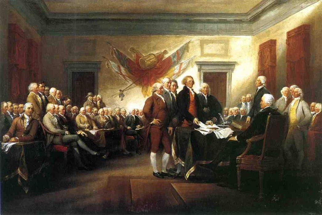 The Declaration of Independence, Oil On Canvas by John Trumbull (1756-1843, United Kingdom)