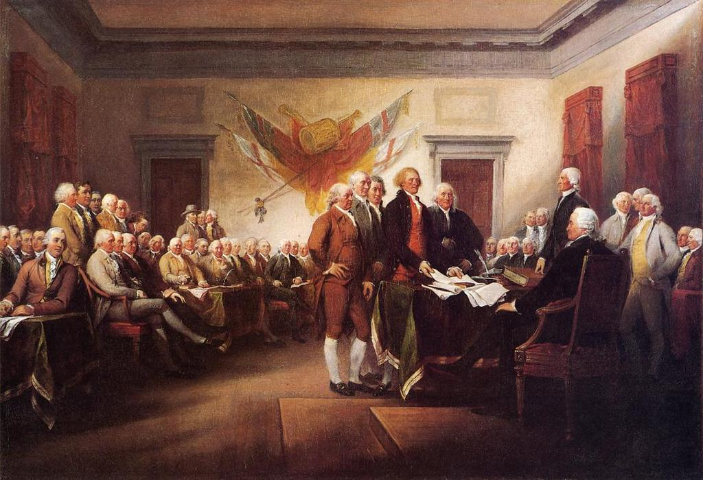 The Declaration of Independence, July 4, 1776, Oil On Canvas by John Trumbull (1756-1843, United Kingdom)