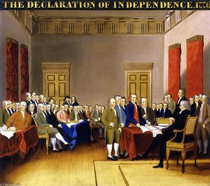 Order Paintings Reproductions | The Declaration of Indepenence, 1840 by Edward Hicks (1780-1849, United States) | WahooArt.com