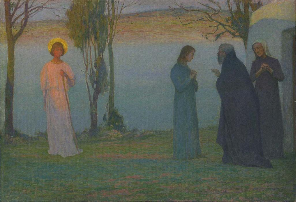 Departure of Tobie, Oil On Canvas by Henri Eugène Augustin Le Sidaner (1862-1939, Mauritius)