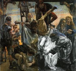 Order Reproductions | The Deposition, 1906 by Lovis Corinth (Franz Heinrich Louis) (1858-1925, Netherlands) | WahooArt.com