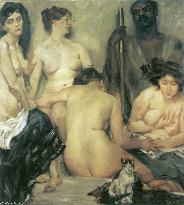 Der Harem, Oil On Canvas by Lovis Corinth (Franz Heinrich Louis) (1858-1925, Netherlands)