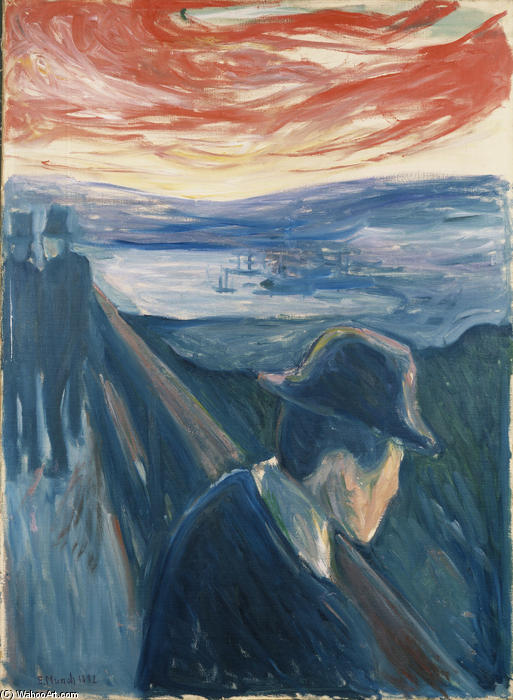 Despair, 1892 by Edvard Munch (1863-1944, Sweden)