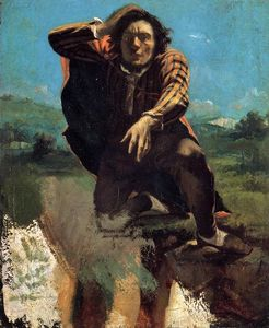 Gustave Courbet - The Desperate Man (also known as The Man Made Mad by Fear)